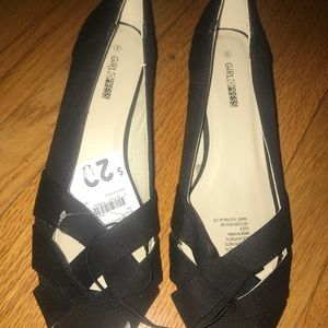 Shoes - Black Open Toe Shoes Size 8 Peep Toes